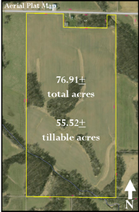 76.91± ACRES - 55.52± TILLABLE ACRES - WOODS - CREEK @ Cloverdale Rockwell Building | Cloverdale | Indiana | United States