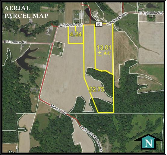 40 ACRES – TILLABLE – WOODS – BUILDING SITES