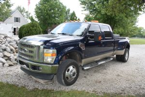 FORD F-350 DUALLY PICK-UP - HARLEY DAVIDSON ULTRA CLASSIC - NEW HOLLAND TRACTOR - BOBCAT EXCAVATOR @ Plainfield   Indiana   United States