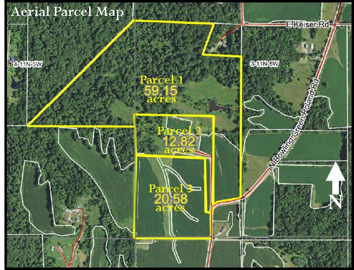 92.55 ACRES – TILLABLE – WOODS – PASTURE – FARMHOUSE – BUILDING SITES