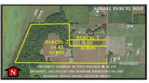 70.43 ACRES - RANCH HOME - POLE BARN - TILLABLE - WOODS - CREEK