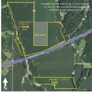 165+ TOTAL ACRES - 2 PARCELS - 148+ TILLABLE ACRES @ Putnam County Airport Hotel | Greencastle | Indiana | United States